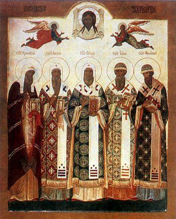 Икона святителей Московских